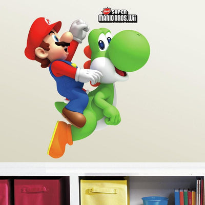 Yoshi & Mario Giant Wall Decals roomset