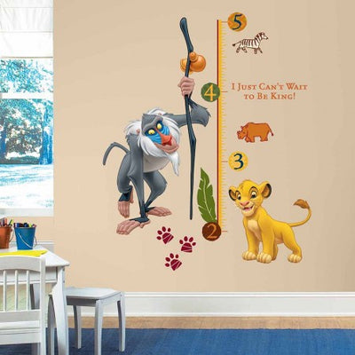 The Lion King Growth Chart Wall Decals - Standard roomset