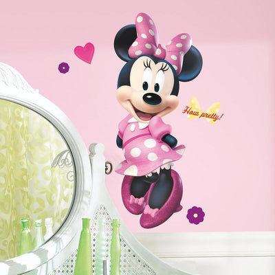 Minnie Mouse Bow-tique Giant Wall Decal roomset