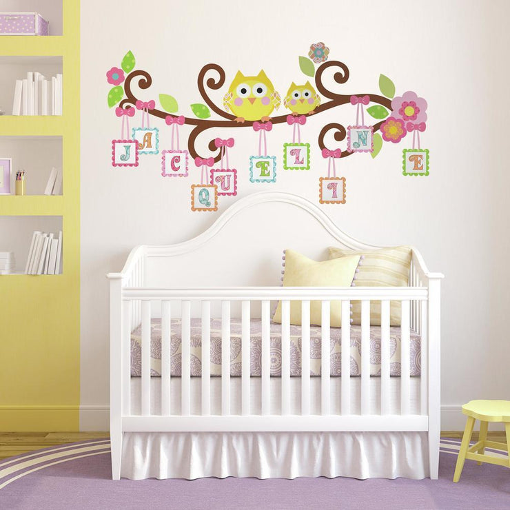Scroll Tree Letter Branch Wall Decals - RoomMates Decor