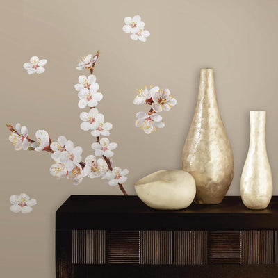 Dogwood Flowers Wall Decals roomset