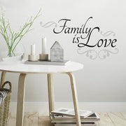 Family Is Love Quote Wall Decals roomset 3