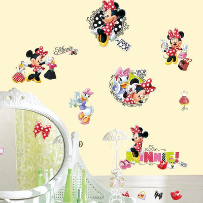 Minnie Loves to Shop Wall Decals roomset