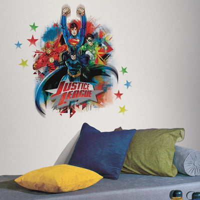 Justice League Giant Wall Decal roomset
