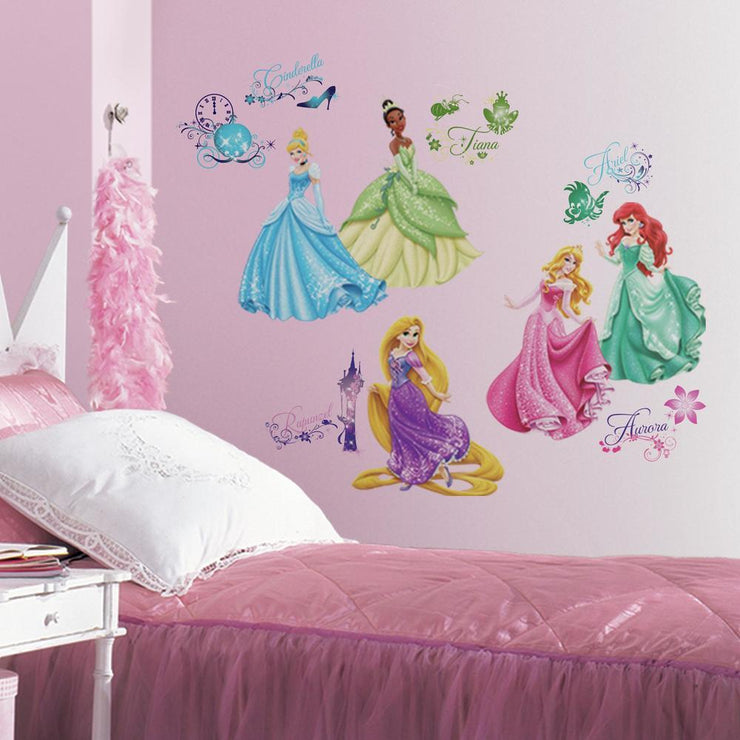 Disney Princess Royal Debut Wall Decals with Glitter roomset 2
