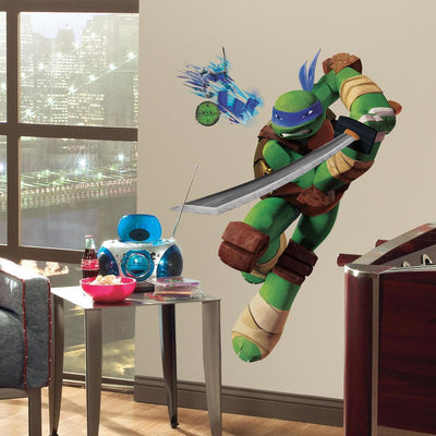 Teenage Mutant Ninja Turtles Leonardo Giant Wall Decal roomset