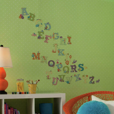 Happi Animal Alphabet Wall Decals roomset