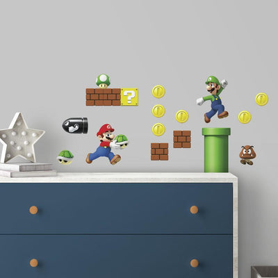 Nintendo Super Mario Bros. Build A Scene Wall Decals roomset