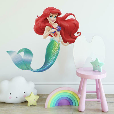 The Little Mermaid Giant Wall Decal roomset