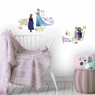 Frozen Wall Decals with Glitter roomset