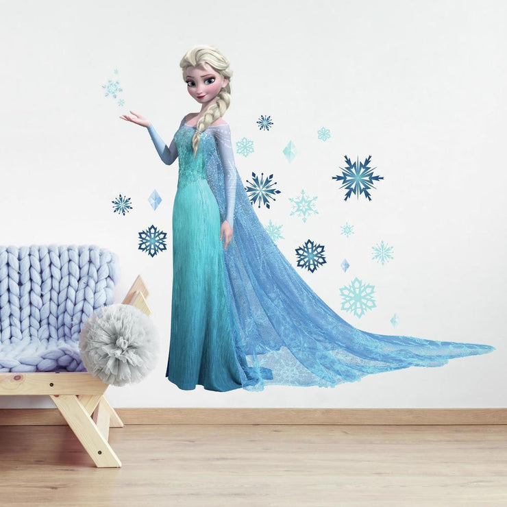 Frozen Elsa Giant Wall Decals with Glitter roomset 2