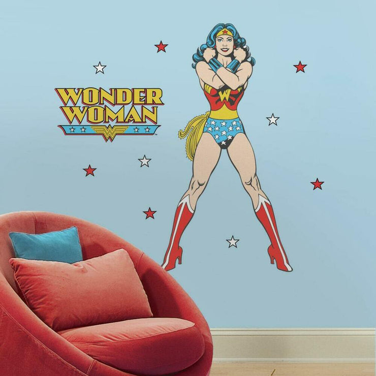 Classic Wonder Woman Giant Wall Decals roomset