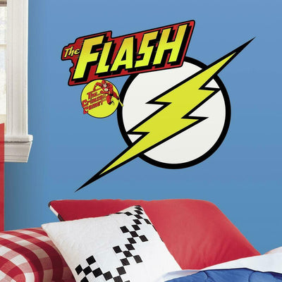 Classic THE FLASH Logo Giant Wall Decals roomset