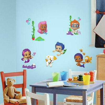Bubble Guppies Wall Decals roomset