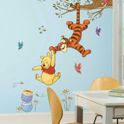 Winnie the Pooh Swinging for Honey Giant Wall Decals roomset