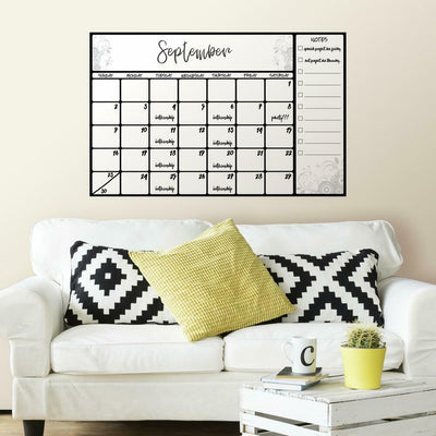 Scroll Dry Erase Calendar Giant Wall Decal roomset