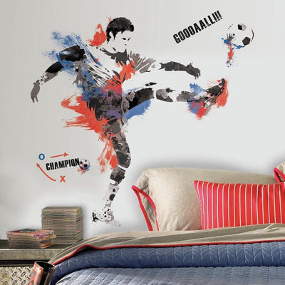 Men's Soccer Champion Giant Wall Decals roomset