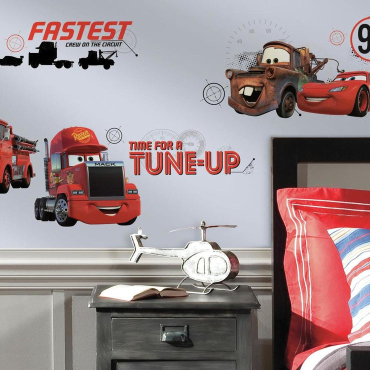 Disney Pixar Cars Friends to the Finish Wall Decals roomset