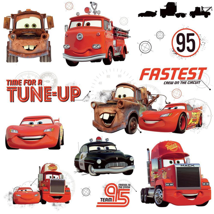 Disney Pixar Cars Friends to the Finish Wall Decals
