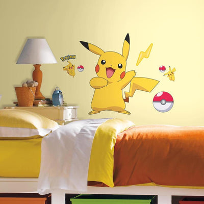 Pokemon Pikachu Giant Wall Decals roomset