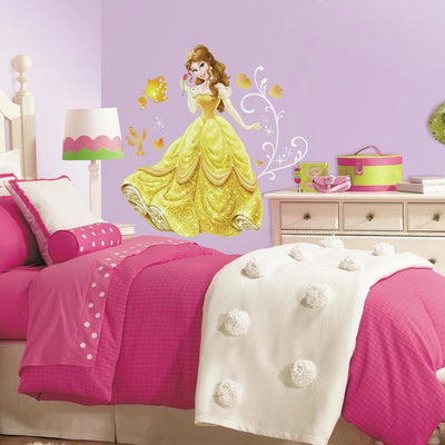 Disney Princess Belle Giant Wall Decals with Glitter roomset