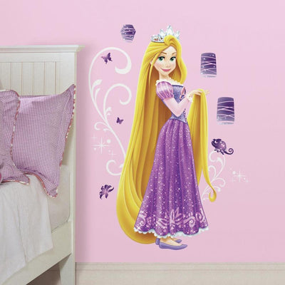 Disney Princess Rapunzel Giant Wall Decals with Glitter roomset