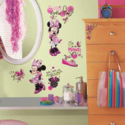 Minnie Fashionista Wall Decals roomset