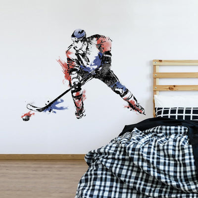 Men's Hockey Champion Giant Wall Decals roomset