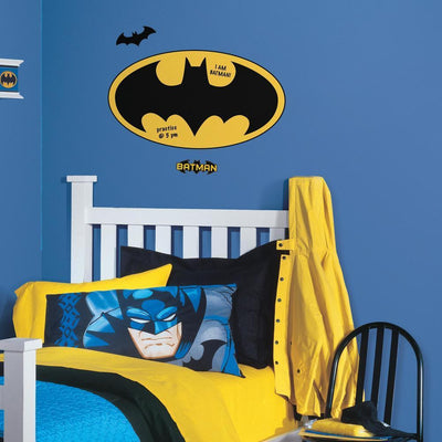 Dry Erase Batman Logo Giant Wall Decals roomset