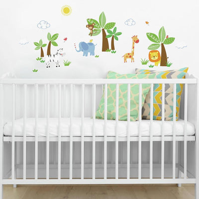 Jungle Friends Wall Decals roomset