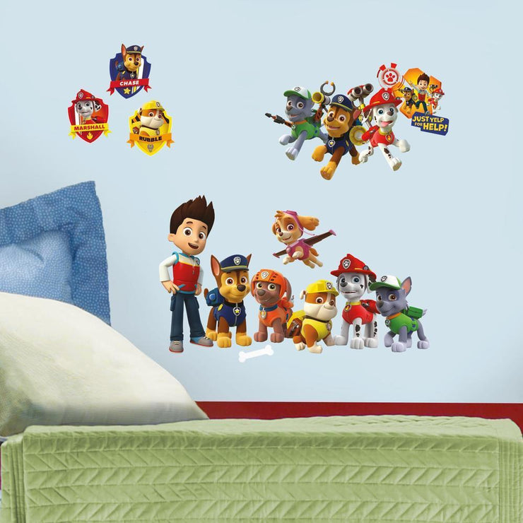 PAW Patrol Wall Decals roomset