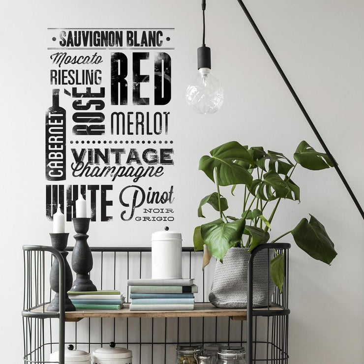 Wine Lovers Wall Decals roomset 2
