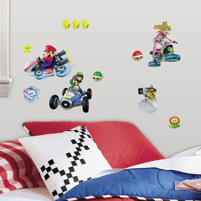 Mario Kart 8 Peel and Stick Wall Decals roomset