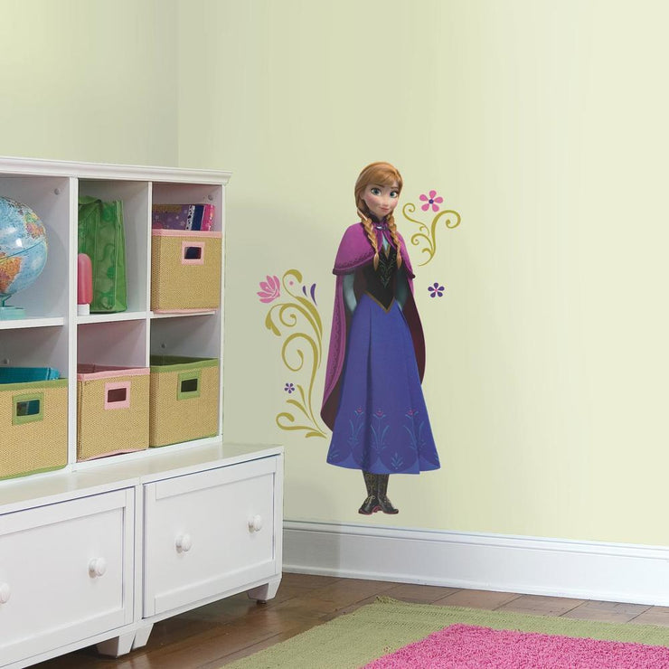 Disney Frozen Anna with Cape Giant Wall Decals roomset