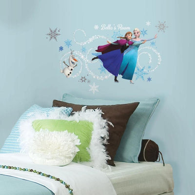 Disney Frozen Headboard Wall Decals With Personalization roomset