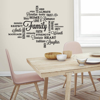 Family Quote Wall Decals roomset