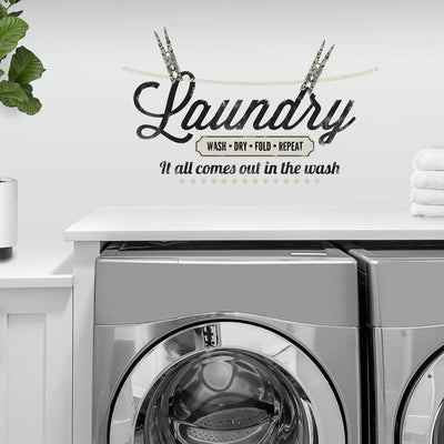 Laundry Quote Wall Decals roomset