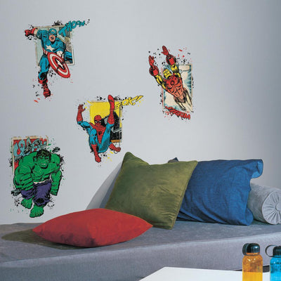 Marvel Super Hero Burst Peel and Stick Giant Wall Decals roomset