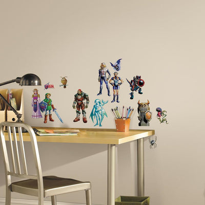 The Legend of Zelda: Ocarina of Time 3D Peel and Stick Wall Decals roomset