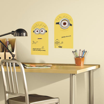 Minion Dry Erase Peel and Stick Wall Decals roomset