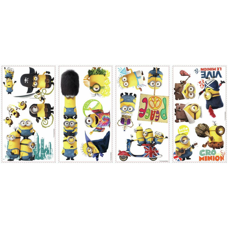 Minions The Movie Wall Decals sheet