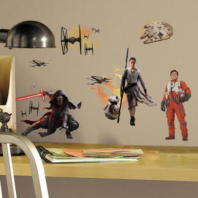 Star Wars: The Force Awakens Peel and Stick Wall Decals roomset