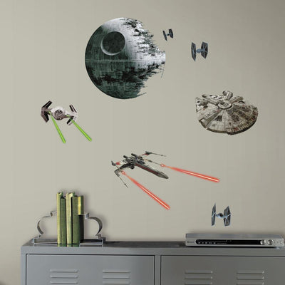 Star Wars Classic Ships Peel and Stick Wall Decals roomset