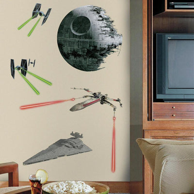 Star Wars Classic Ships Giant Wall Decals roomset