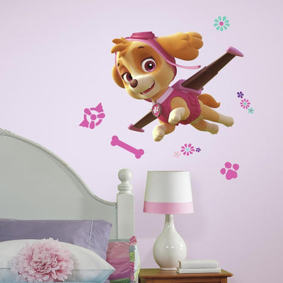 PAW Patrol Skye Peel and Stick Giant Wall Decals roomset