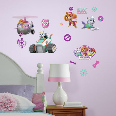 PAW Patrol Girl Pups Peel and Stick Wall Decals roomset