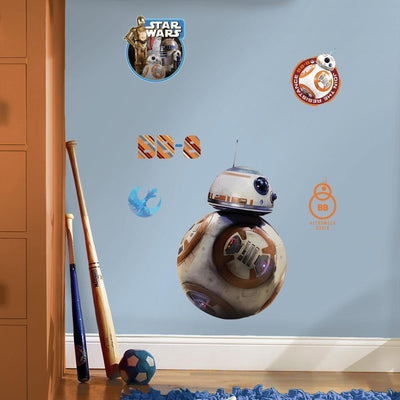 Star Wars: The Force Awakens BB-8 Giant Wall Decals roomset