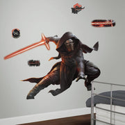 Star Wars: The Force Awakens Kylo Ren Giant Wall Decals With Glow roomset