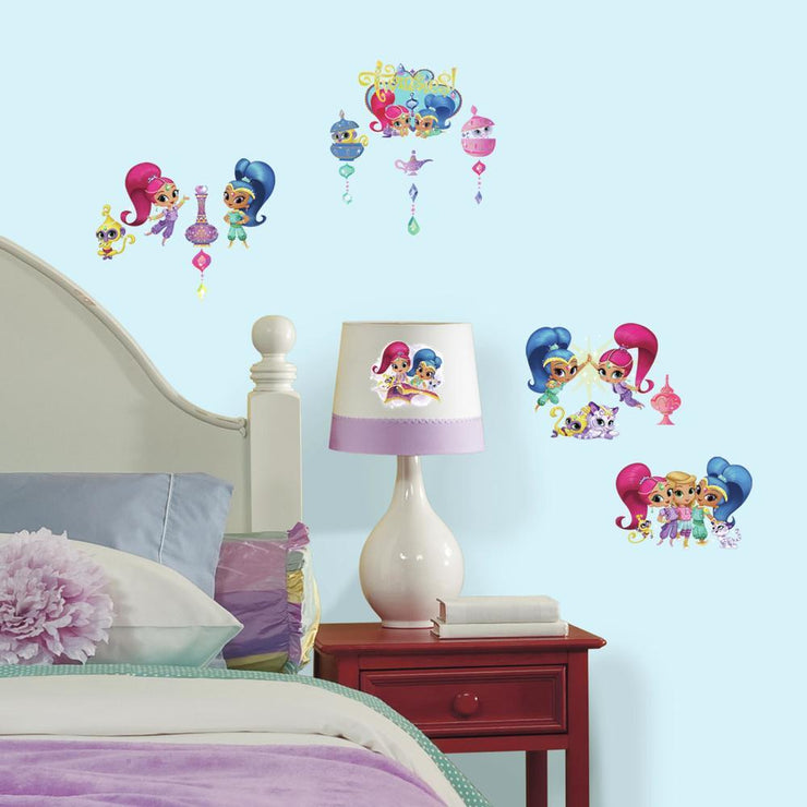 Shimmer and Shine Peel and Stick Wall Decals roomset