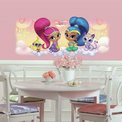 Shimmer and Shine Burst Wall Graphic with Glitter roomset